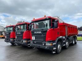 kipper vrachtwagen > 7.5 t Scania G450 8X4 Schmitz-Stahlmulde Schalter 2016