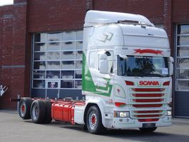 chassis cabine vrachtwagen Scania R490 6x2*4 Topline - Chassis -  Euro6 - Navi - Steering axle - Chassis 750 CM - Full air 2015