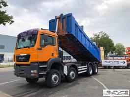 kipper vrachtwagen > 7.5 t MAN 41.410 8x6 - Manual - Mech pump - TGS front - 21M3 2004