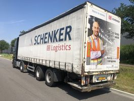 schuifzeil oplegger Pacton 2 as city trailer 11 meter stuuras laadklep Nwe apk 2007