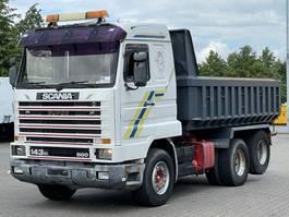 kipper vrachtwagen > 7.5 t Scania R143 6x2 TIPPER  / STEEL SUSPENSION 1992