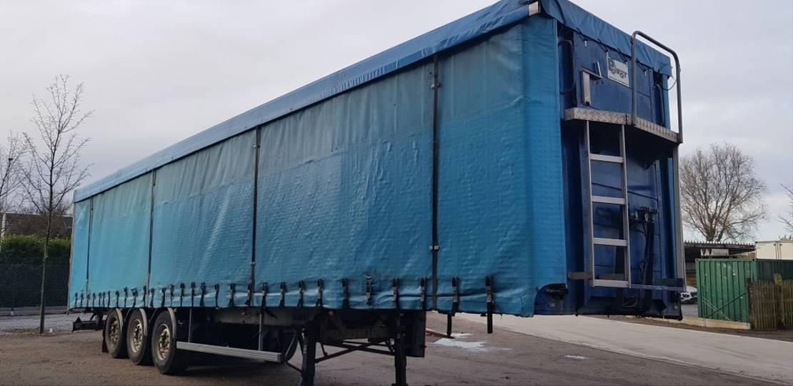 huifzeil oplegger Kaiser bache trailer disk MB axel air 2000