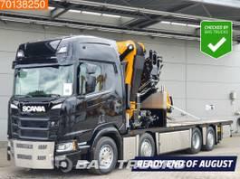 platform vrachtwagen Scania R500 8X2 Effer 955 8S Jib 6S 5+6 fuction Winch 106cm platform