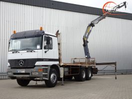 platform vrachtwagen Mercedes-Benz 2640 Kraan 6x4 - MP 1 - Effer 17 TM Kraan, Crane, Kran, Grue - Airco, Ma... 1999