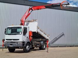 kipper vrachtwagen > 7.5 t Renault Kerax 370 DCI 17 TM Kraan, Crane, Kran, Grue - Telma brake! 2002