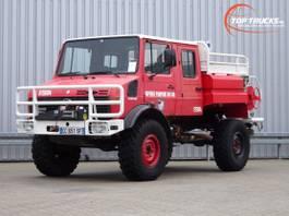 brandweerwagen vrachtwagen Mercedes-Benz Unimog U 1550 L 4x4 Unimog U1550 L (437) Mercedes Benz, Doppelkabine, SI... 1991