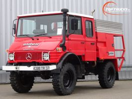 brandweerwagen vrachtwagen Mercedes-Benz Unimog U 650 L (407) 4x4 Unimog / Mercedes Benz, Doppelkabine, - Expedit... 1994