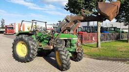 standaard tractor landbouw John Deere 2650 4WD Cabrio met Frontlader 1990