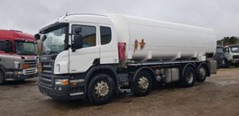 tankwagen vrachtwagen Scania P 400 8x2 24000 Liter tank Petrol Fuel Diesel ADR Euro 5 2009