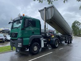 kipper vrachtwagen > 7.5 t MAN TGS 18 4X4 MANUAL + MEILLER ISOLATED TIPPER TRAILER 2015 YEAR 2011