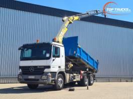 kipper vrachtwagen > 7.5 t Mercedes-Benz Actros 2632 6x4 - MP 3 - HMF 15TM Kraan, Crane, Kran, Grue - Kipper, Tipper, Benne -... 2004