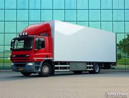 koelwagen vrachtwagen DAF CF 75 15 KARREN BAK  KACHEL  HARDHOUTEN VLOER GEISOLEERD 2012