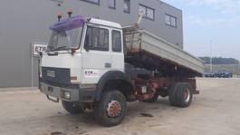kipper vrachtwagen > 7.5 t Iveco Magirus 180 - 25 (GRAND PONT / SUSPENSION LAMES / 4X4 / V8 MOTEUR AVEC POMPE MANUELLE) 1992