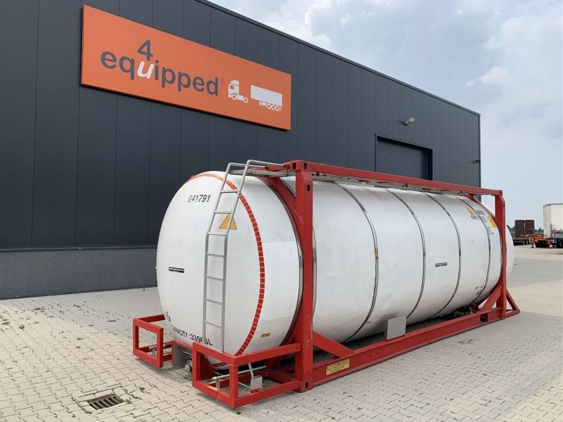 tankcontainer Van Hool 20FT, 33.966L / 2-comp (26.467L+7.499L), L4BN, IMO-4, CSC + 5Y-inspection: 07/2022 2000