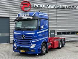 driezijdige kipper vrachtwagen Mercedes-Benz Actros 2551 6x2 HMF cable-system 3-way tipper 2012