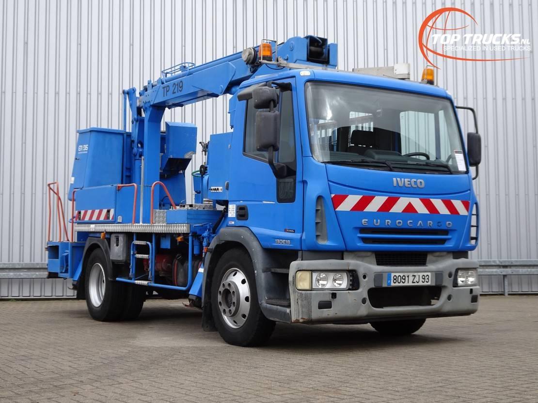 autohoogwerker vrachtwagen Iveco EuroCargo 130 E18 EGI 19 mtr. Hoogwerker, Hoogwerker, Platform, Hubarbeitsbuhne 2005
