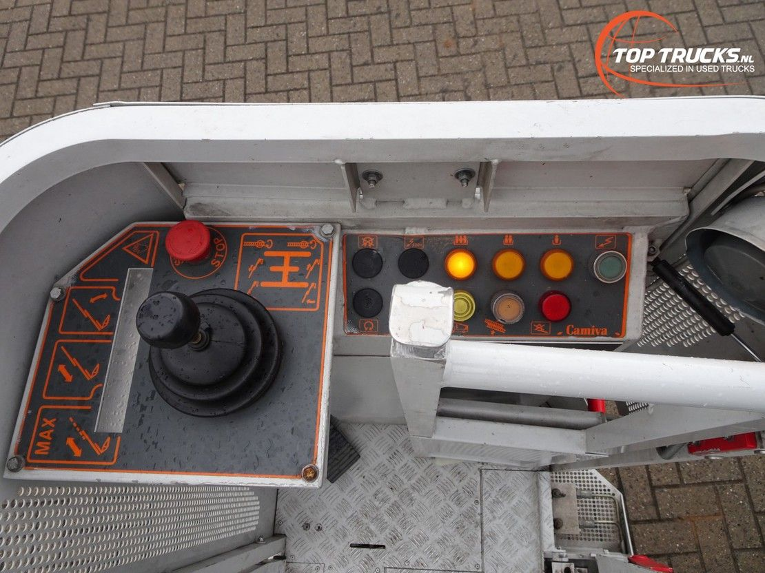 autohoogwerker vrachtwagen Iveco EuroCargo 120 120E18 Camiva EPAS 25 Ladderwagen, Ladder Truck, Arbeitsbuhne 2000