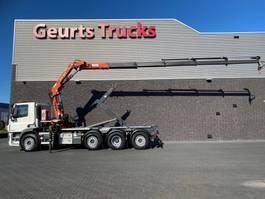 containersysteem vrachtwagen DAF CF 440 8X2 TRIDEM + VDL HAAKARM + ATLAS 206.3E KRAAN/KRAN/CRANE/GRUA 2017