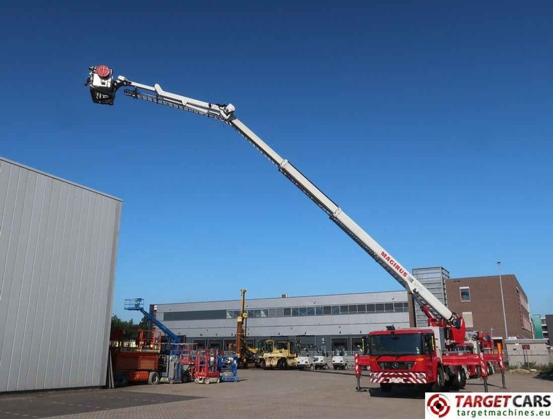 autohoogwerker vrachtwagen Mercedes-Benz Econic 2629 Magirus ALP326 Telescopic Boom Work Lift 3300cm Ladder Fire 2007