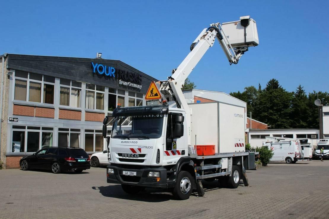 autohoogwerker vrachtwagen Iveco EuroCargo 150 150e 22/EEV/EL232CBA/23m/2 Pers/AHK 2014