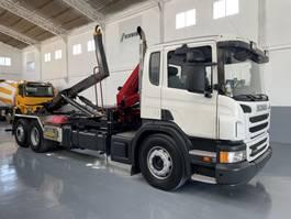 kraanwagen Scania P400 equipo gancho con grúa HMF 635 2012