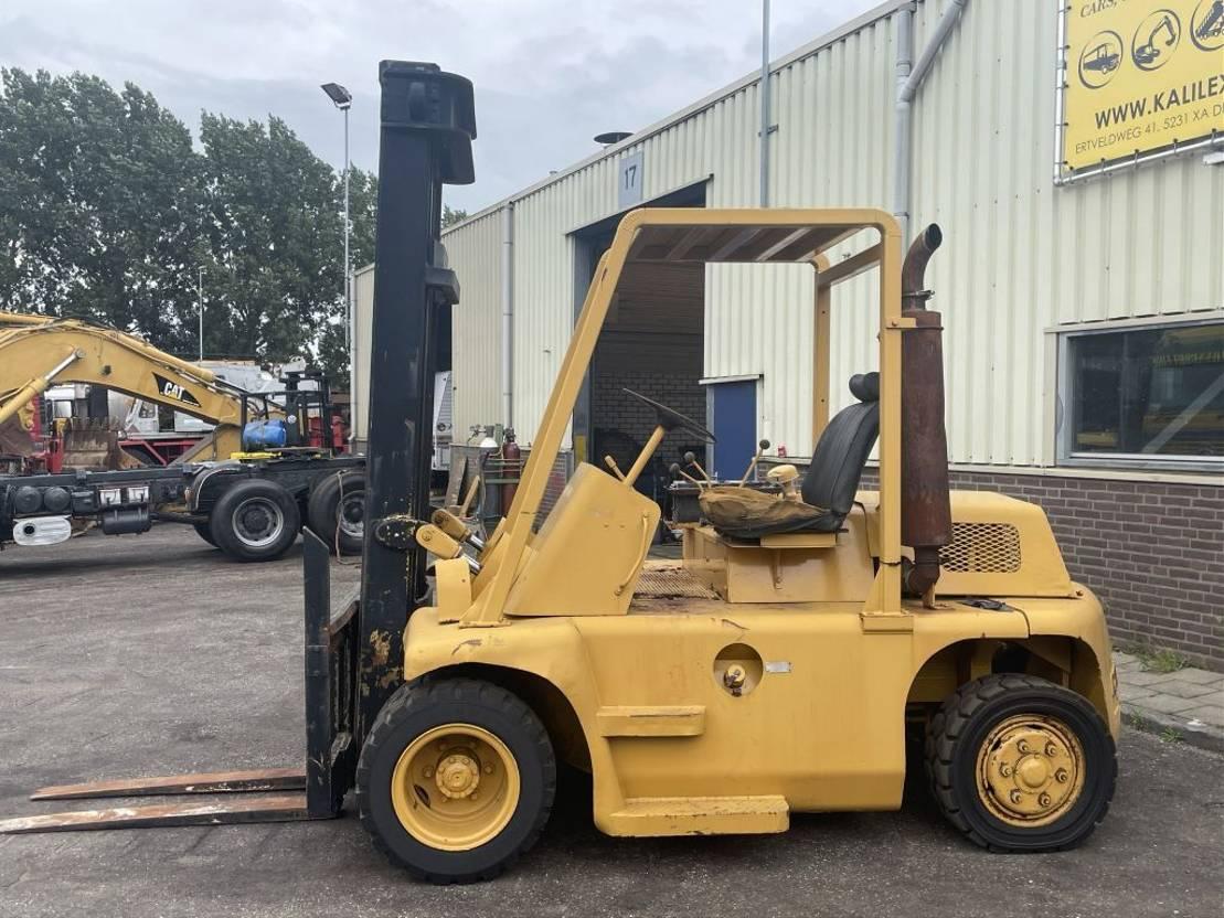 vorkheftruck Caterpillar V140 Forklift 8 Ton Good Condition 1985