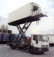 autohoogwerker vrachtwagen Iveco ML 120 120 E 15 Catering Sky Koffer 6m high Werbung 2000