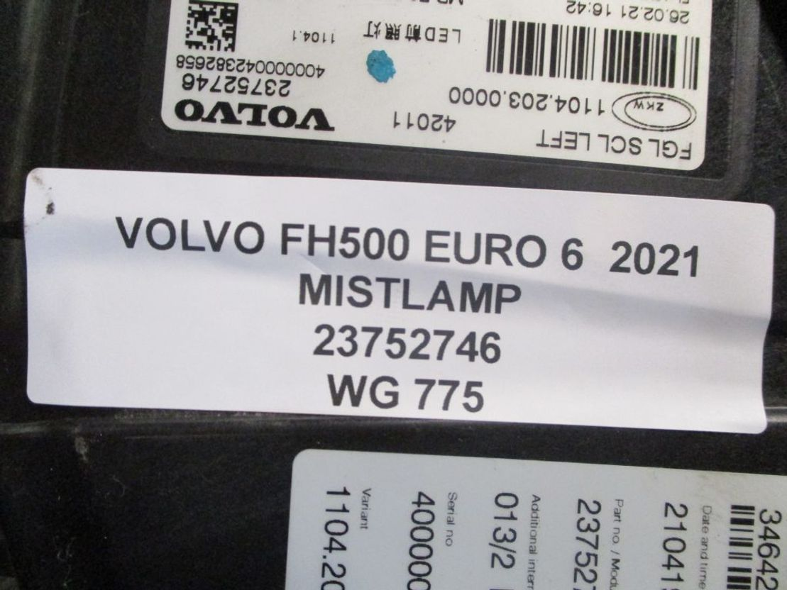 Mistlamp vrachtwagen onderdeel Volvo H500 23752746 MISTLAMP EURO 6