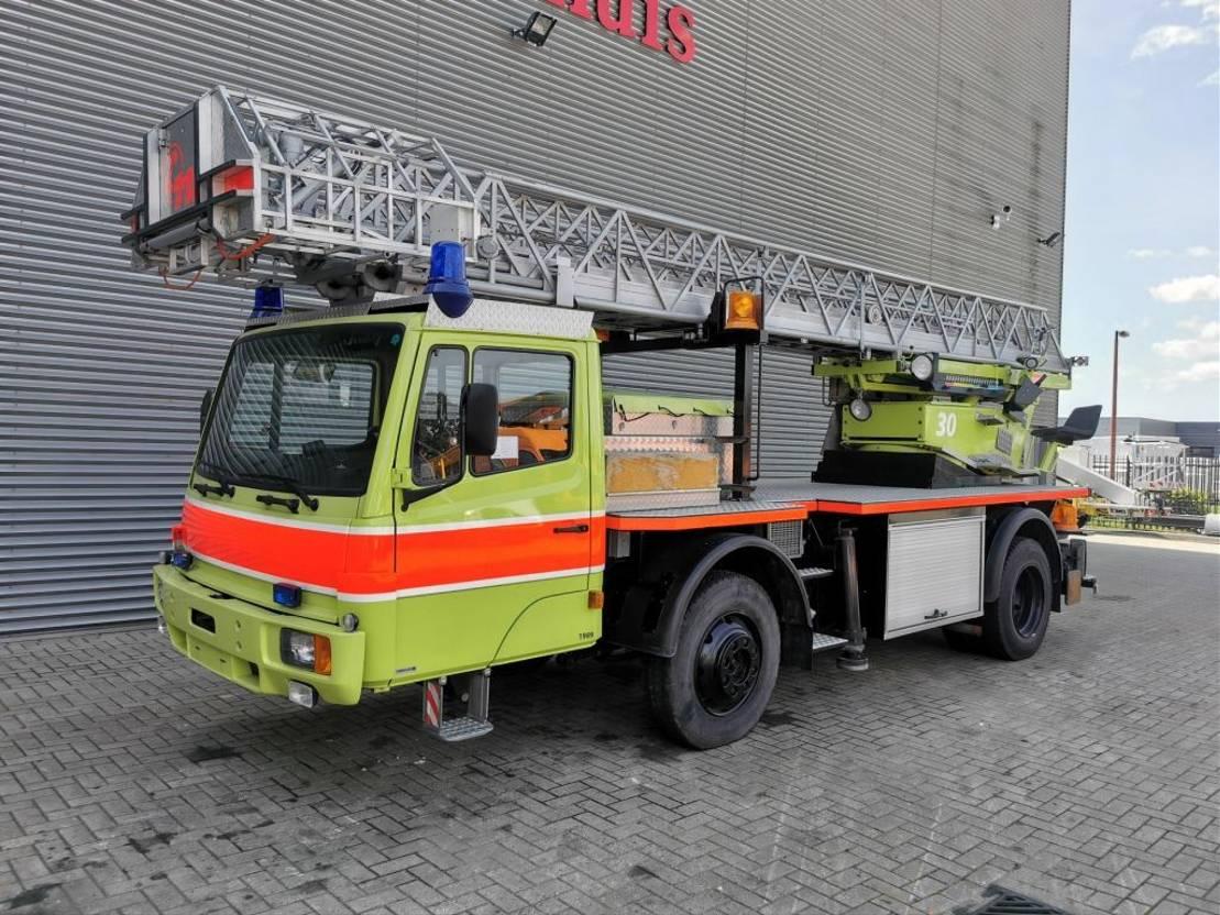 autohoogwerker vrachtwagen Mercedes-Benz 1120 AF 4x4 Drehleiter Ehrsam DLK 25 Firetruck! 1988