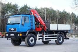 kraanwagen MAN L2000 4x4 HMF 2120 Kran Cran Winch Off Road ... 2001