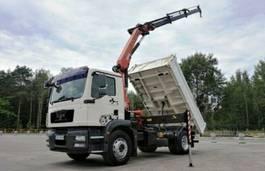 kipper vrachtwagen MAN TGM 18 Palfinger PK 12001 Crane Kipper 2009