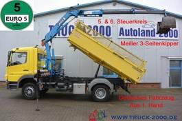 kipper vrachtwagen Mercedes-Benz Atego 1318 Meiller Kran 7.25m = 960 kg 1.Hd R-CD 2012