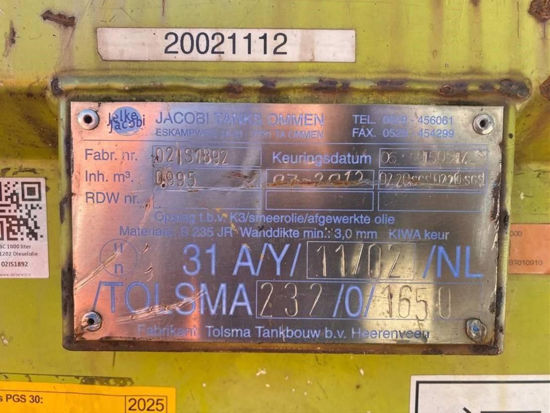 IBC-intermediate bulk container Diversen 995 liter Kiwa IBC dieseltank met handpomp en keuring 2002