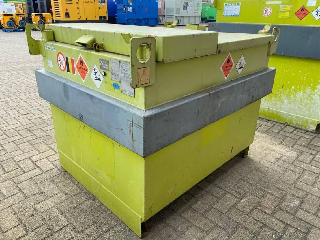 IBC-intermediate bulk container Diversen 750 liter Kiwa IBC dieseltank met handpomp en keuring ! 2007