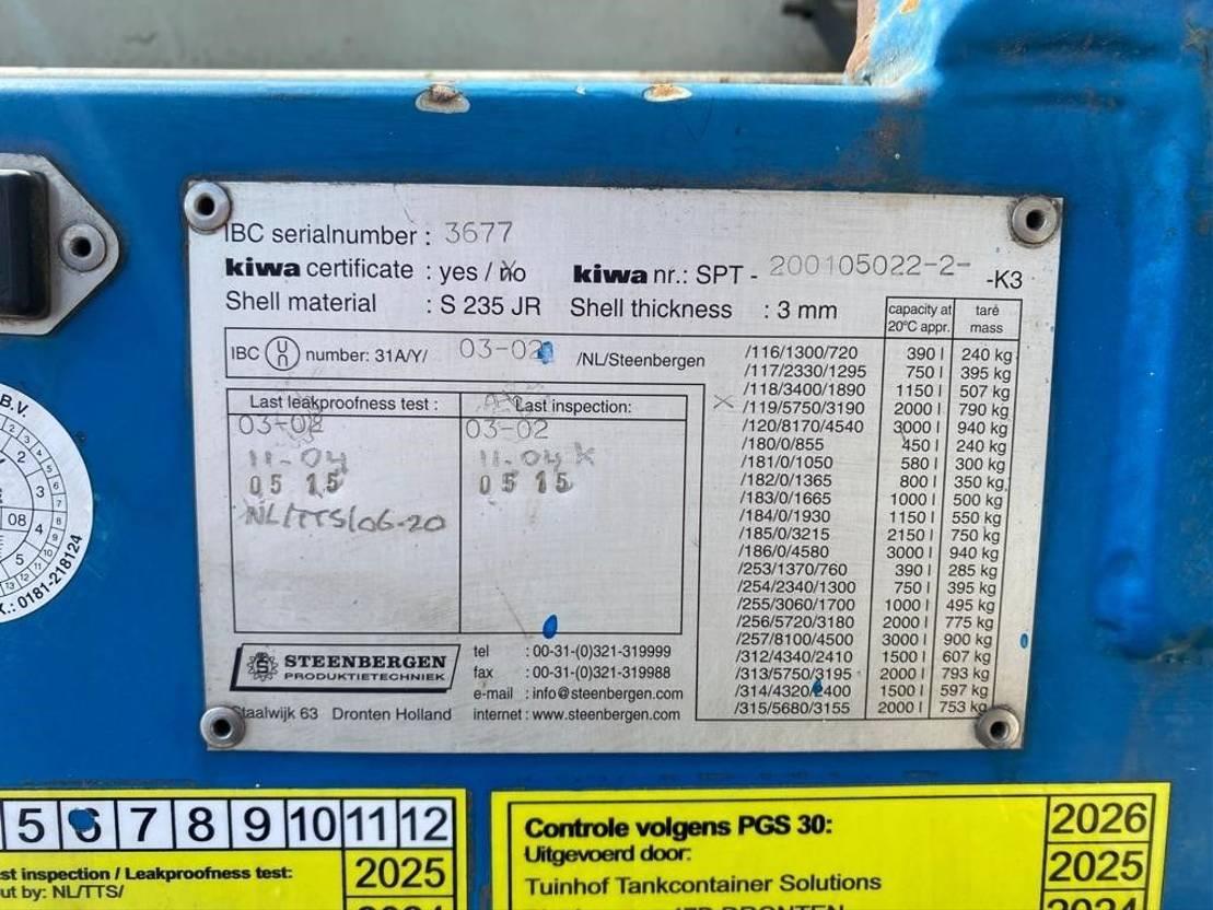 IBC-intermediate bulk container Diversen 2000 liter Kiwa IBC dieseltank met keuring 2002