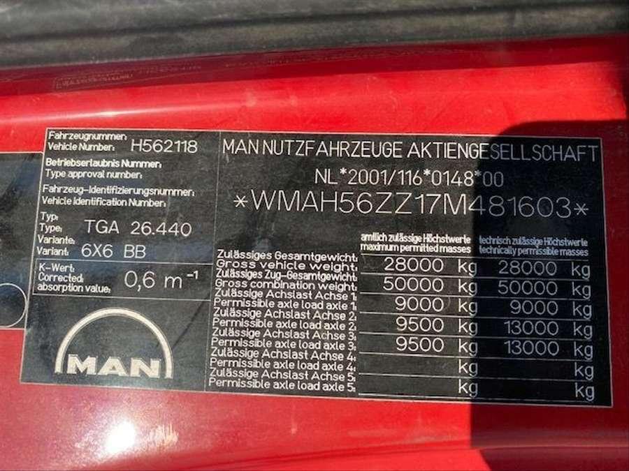 MAN - 6X6 Kipper Mit Kran HMF 16 TON /Funk 17