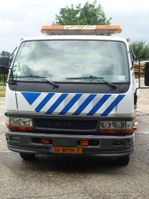 takelwagen-bergingswagen-vrachtwagen Mitsubishi Canter 2005
