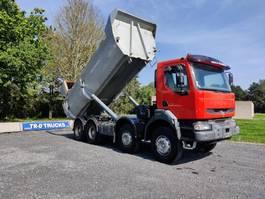 kipper vrachtwagen Renault Kerax 420 8X4 BENNE