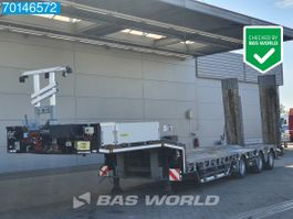 dieplader oplegger Humbaur HTS30 3 axles Lift+Lenkachse Hydr.Rampen Verbreiterbar Hartholz-Boden 2017