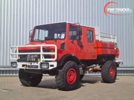 brandweerwagen vrachtwagen Mercedes-Benz Unimog 1550 L 4x4 Unimog 1550 L (437) Doppelkabine, CCF2000 ltr. - Exped... 1991