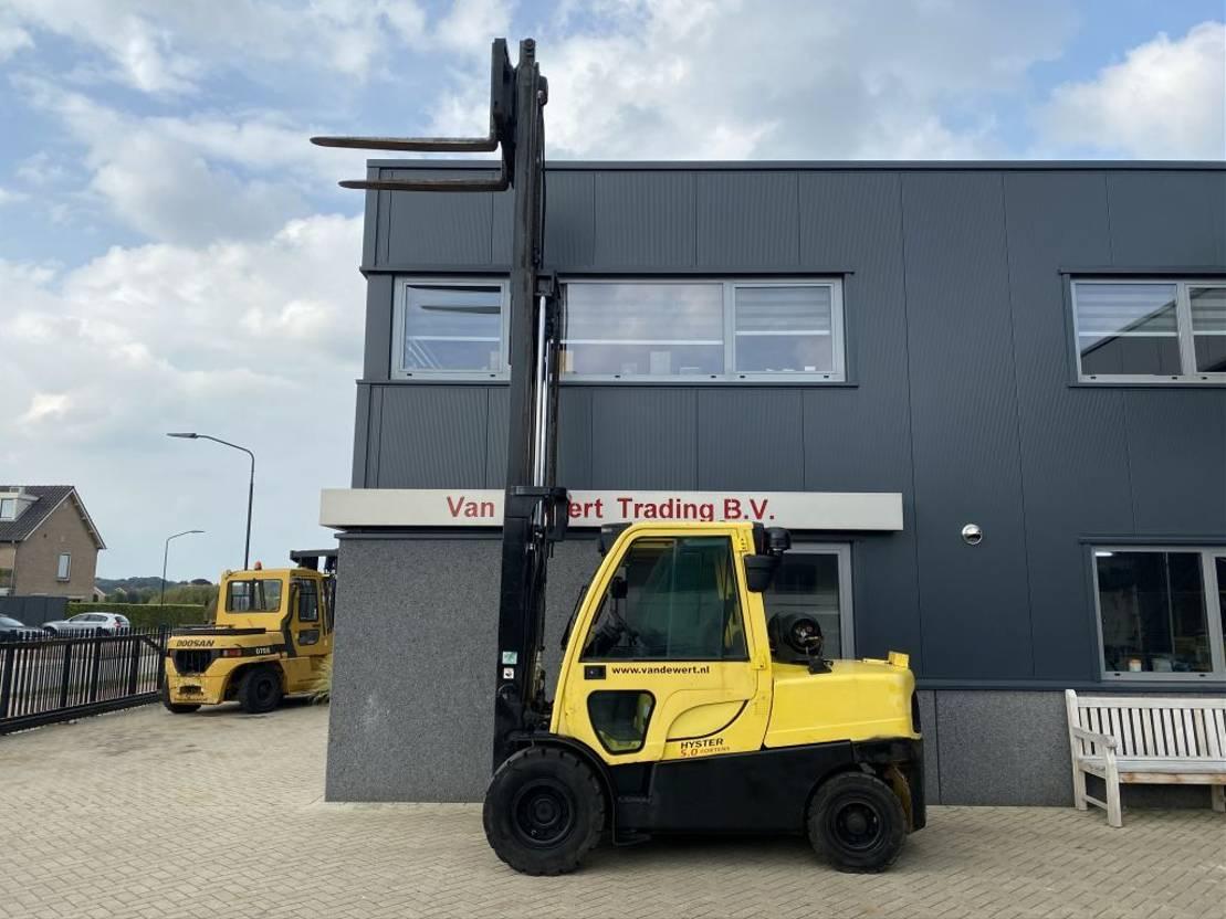 vorkheftruck Hyster Heftruck HYSTER H5.00FT triplo530 freelift sideshift 6900uur 2013 LPG