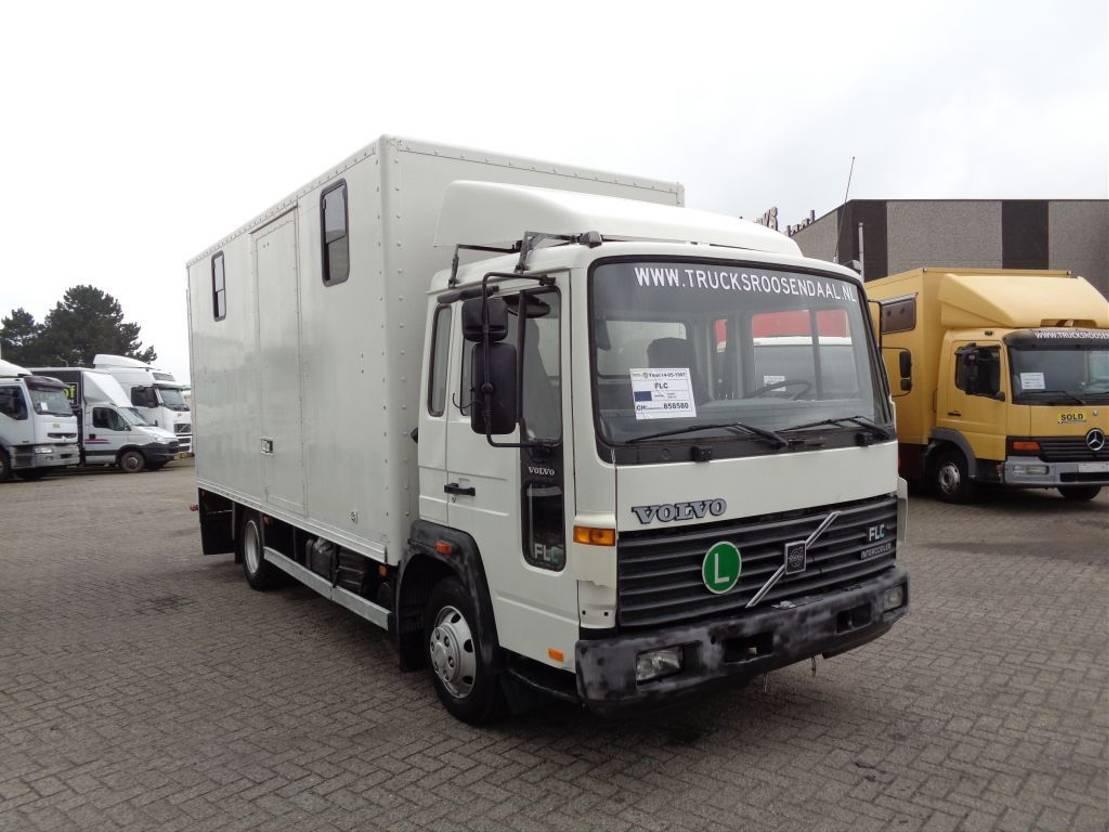 paardenvrachtwagen Volvo FLC + Manual + Horse transport 1997