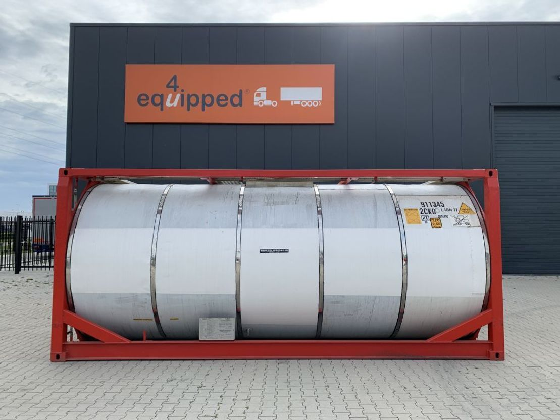 tankcontainer Van Hool 25.000L, 20FT, IMO-1, T7, L4BN, valid 5y/CSC: 01/2024 1999