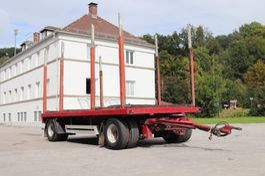 houttransport aanhanger Meusburger MPA2 Holztransporter mit Rungen Doppelreifen 2000
