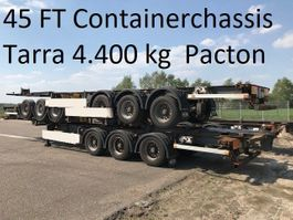 container chassis oplegger Pacton T3-007 , TARRA 4400 KG !!!  40 / 45 Ft  containerchassis SAF Drumbrakes 2005