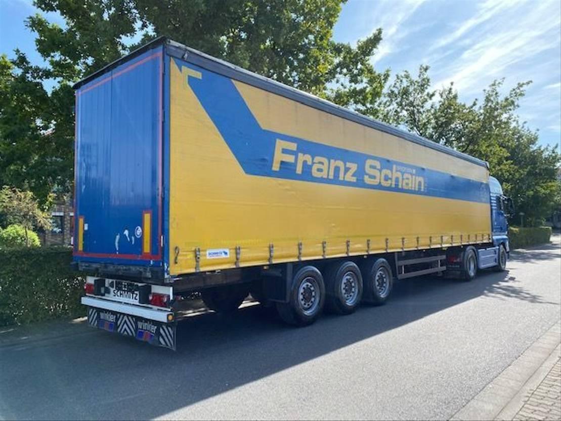 huifzeil oplegger Schmitz Cargobull SCS 24 /Hubdach / Liftachse  / EDSCHA 2011