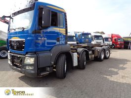 containersysteem vrachtwagen MAN TGS 35 Euro 5 + CONTAINER CABLE SYSTEM + 8x4 Hydro drive 2011
