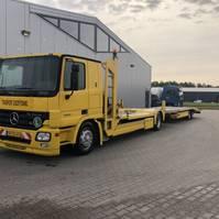 autotransporter vrachtwagen Mercedes-Benz Actros 1836 Combinatie inclusief aanhanger 2004