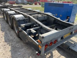 container chassis aanhanger Trias Containersystem Abrollkipper   tandem axle 3   LHV LZV Lang-LKW 2016