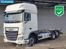 wissellaadbaksysteem vrachtwagen DAF XF 480 6X2 SSC Intarder Liftachse 20ft. 2x Tanks Euro 6 2017